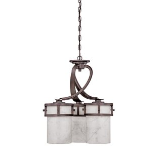 Loon Peak Colby 3-Light Shaded Chandelier