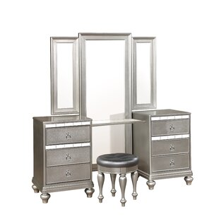 Rosdorf Park Lyke Vanity Set with Mirror