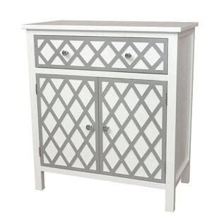 Gallerie Decor Trellis Cabinet 1 Drawer and 2 Door Accent Cabinet