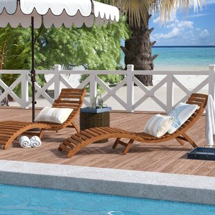 Beachcrest Home Nannette Chaise Lounge (Set of 2)
