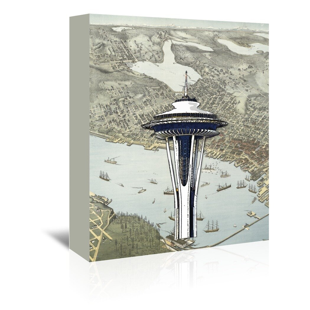 East Urban Home Seattle Graphic Art On Wrapped Canvas Wayfair
