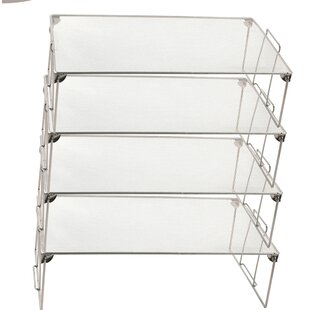 Rebrilliant Farmer Stackable Mesh Shelving Rack (Set of 4)