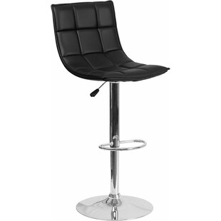 Whelan Mid Back Curved Quilted Adjustable Height Swivel Bar Stool
