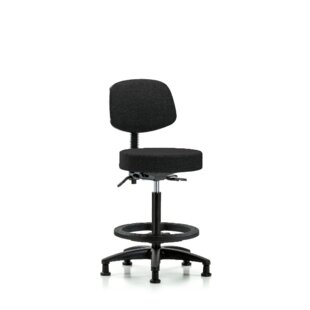 Finnegan High Bench Height Adjustable Lab Stool by Symple Stuff