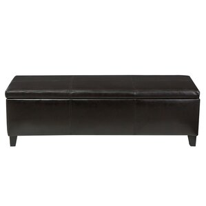 Charlenne Faux Leather Storage Ottoman