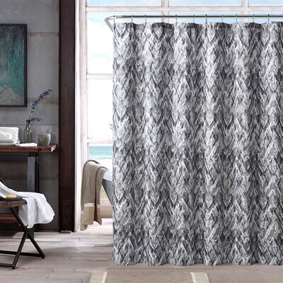 17 Stories Galya Single Shower Curtain  Color: Gray
