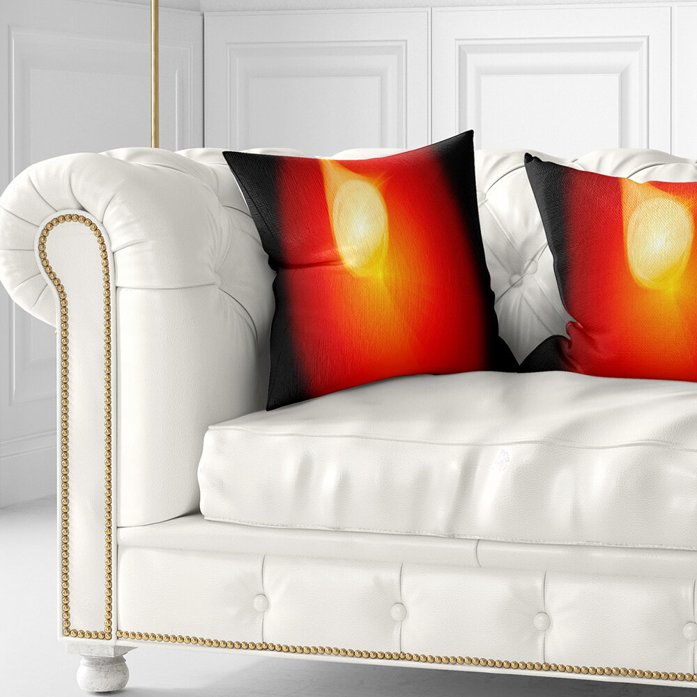 East Urban Home Abstract Glowing Misty Sphere Pillow & Reviews | Wayfair