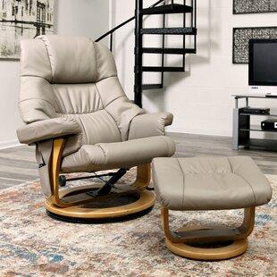 Sao Reclining Massage Chair with Ottoman by Latitude Run