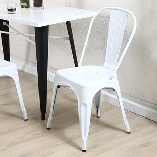 Best Derrall Modern Vintage Stackable Chic Bistro Cafe Dining Chair (Set of 2) by Ebern Designs Reviews (2019) & Buyer's Guide
