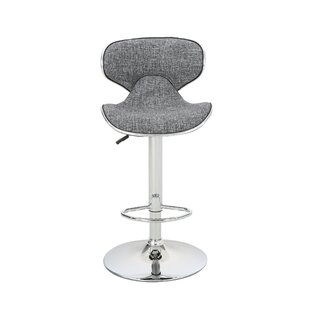Dufrene Fabric Adjustable Height Swivel Bar Stool (Set of 2) by Orren Ellis