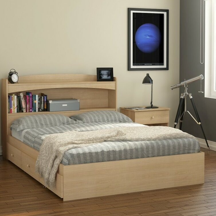 drawers no metal bed bedroom box platform size in queen with headboard stylish way full of white storage frame king