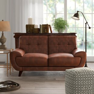 Sterns Craft Leather Loveseat