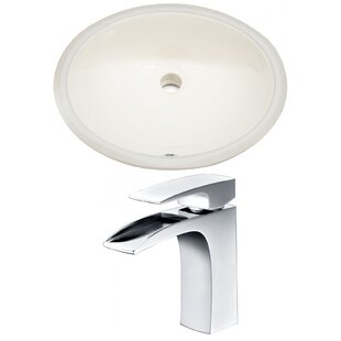 Find for CUPC Ceramic Oval Undermount Bathroom Sink with Faucet and Overflow By American Imaginations