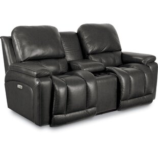 La-Z-Boy Greyson Leather Reclining Loveseat