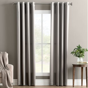 Wayfair Basics Solid Room Darkening Grommet Curtain Panel