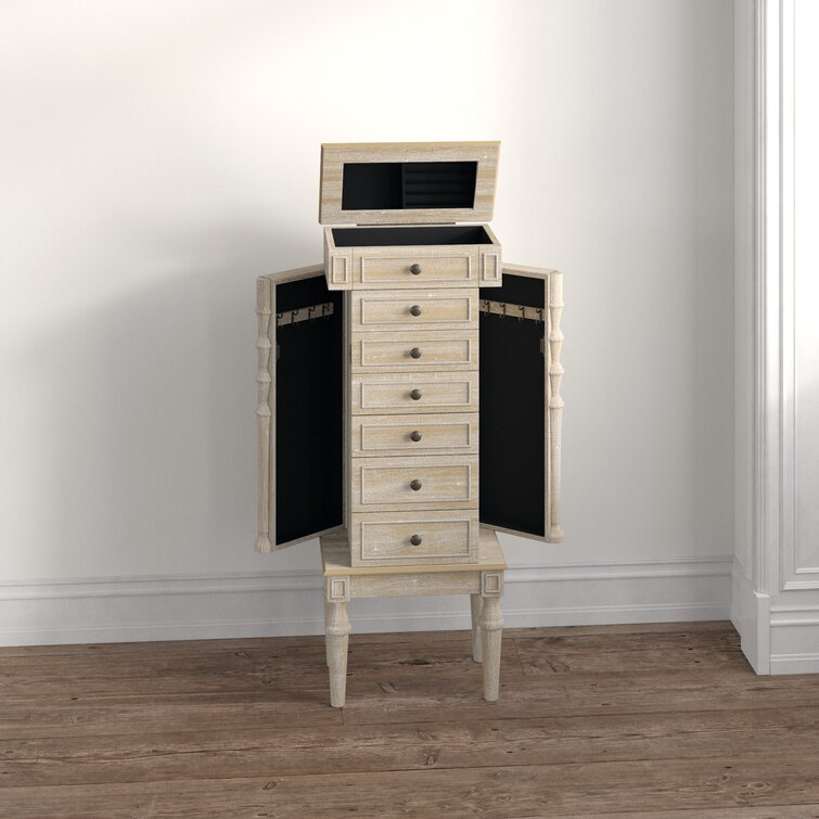Plainville Jewelry Armoire with Mirror