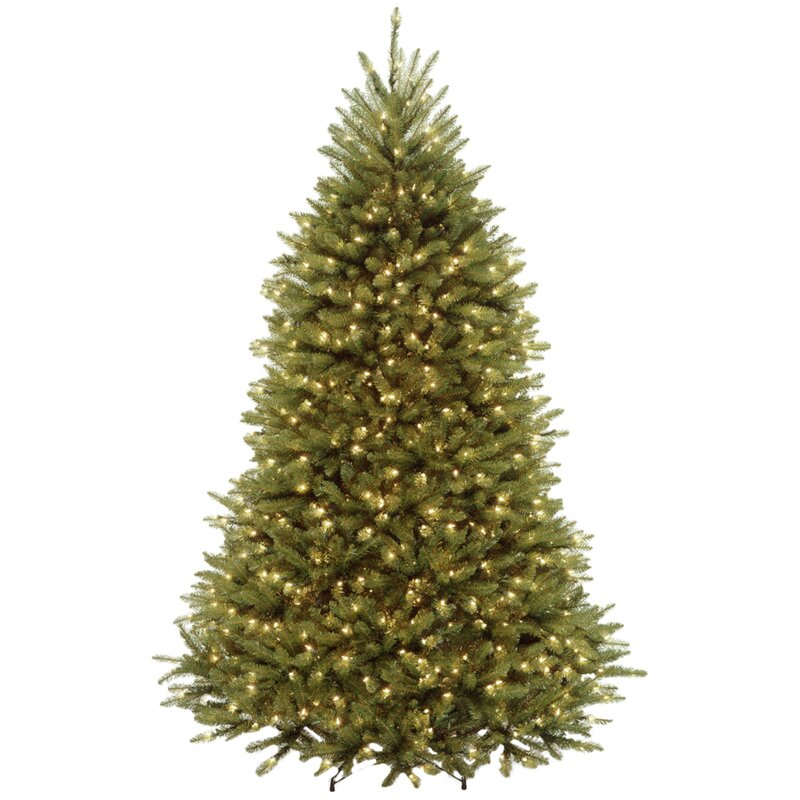 90 H Green Fir Artificial Christmas Tree With 700 Lights Colored