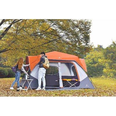 Alpha Camp 8 Person Tent (Set of 2) Colour: Orange