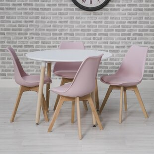 Nyx Round Dining Set With 4 Chairs By Zipcode Design