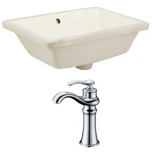 Find the perfect Ceramic Rectangular Undermount Bathroom Sink with Faucet and Overflow ByAmerican Imaginations