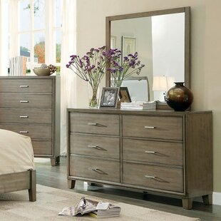 Brayden Studio Tindley 6 Drawer Double Dresser