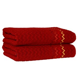 Montauk Zig Zag Turkish Cotton Bath Towel (Set of 2)
