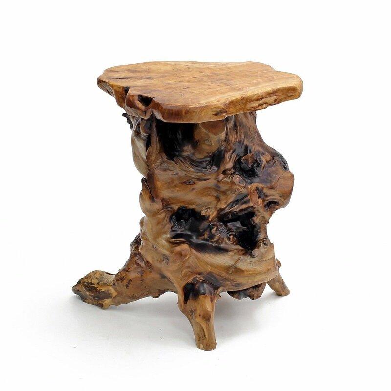 Fabulous Welland Industries LLC Root Wood End Table & Reviews | Wayfair BA98
