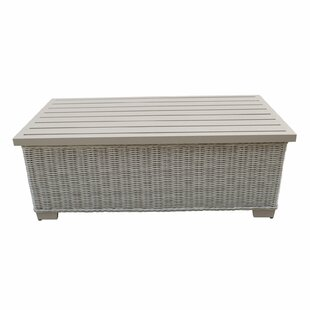 TK Classics Coast Storage Wicker Coffee Table