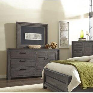 Reviews Saxmundham 4 Drawer Dresser with Mirror by Three Posts