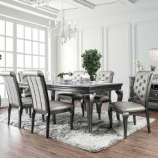 Suzan Transitional Solid Wood Dining Table House of Hampton