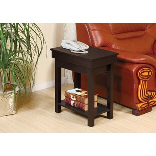 Ayube End Table With Storage Glide Top Open by Winston Porter Cool