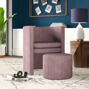 Affordable Price Malek Barrel Chair and Ottoman by Mercury Row Reviews (2019) & Buyer's Guide