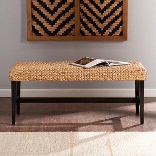 Eaton Wood Bench by Beachcrest Home