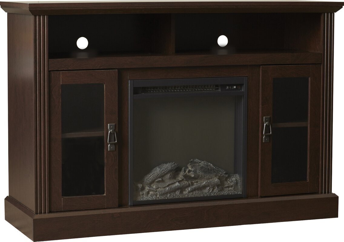 darby home co rosier fireplace tv console u0026 reviews wayfair