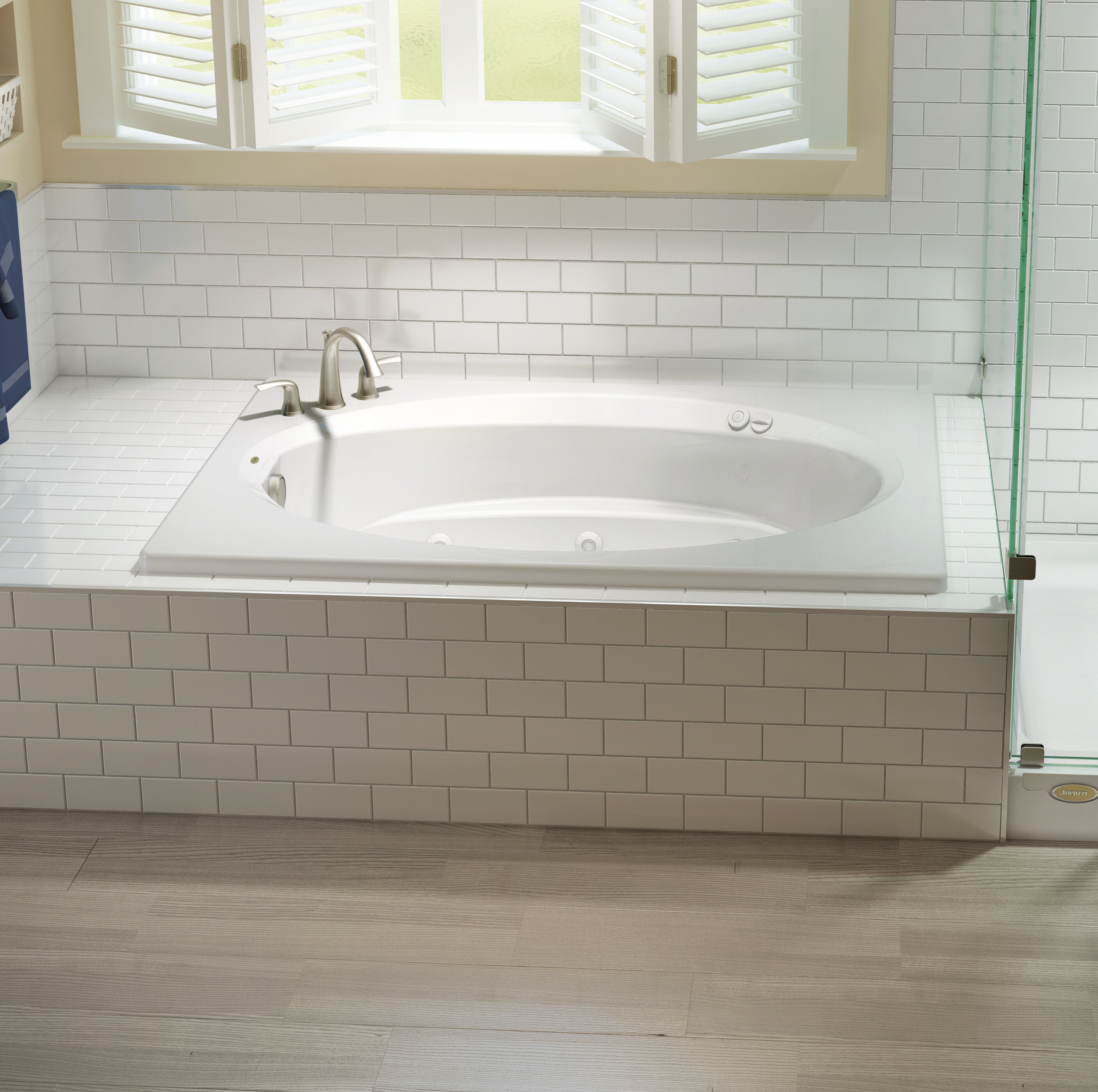 Jacuzzi Signature 72 X 42 Drop In Whirlpool Bathtub With Heater Wayfair