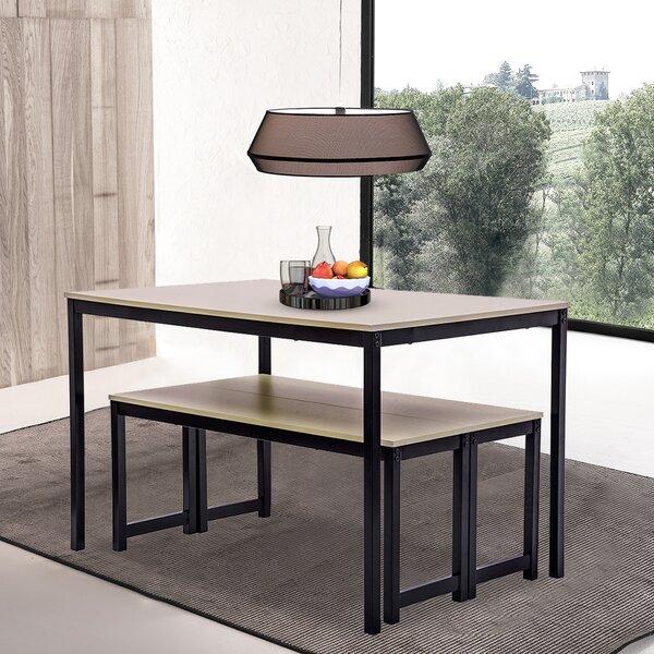 latitude run dining table sets 3 pieces farmhouse kitchen
