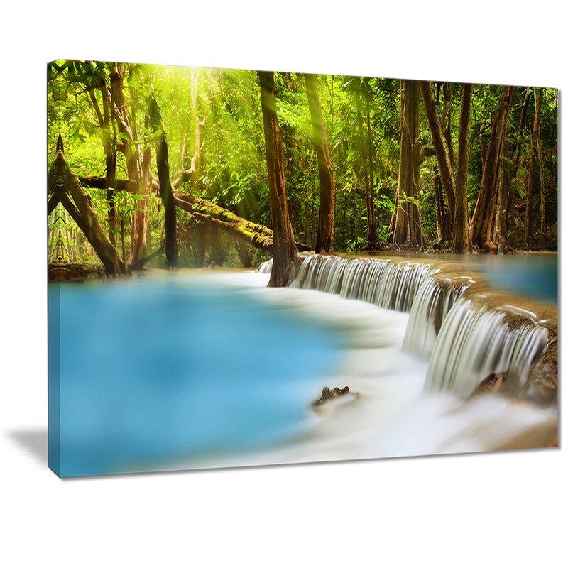 East Urban Home View Of Huai Mae Kamin Waterfall Photographic Print On Canvas Wayfair