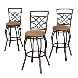 Charlton Home Rigsby Adjustable Height Bar Stool (Set of 3)