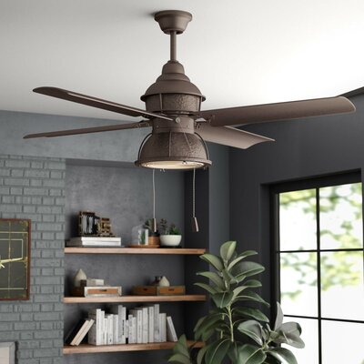 17 Stories 52 inch Martika 4 Blade Outdoor Ceiling Fan