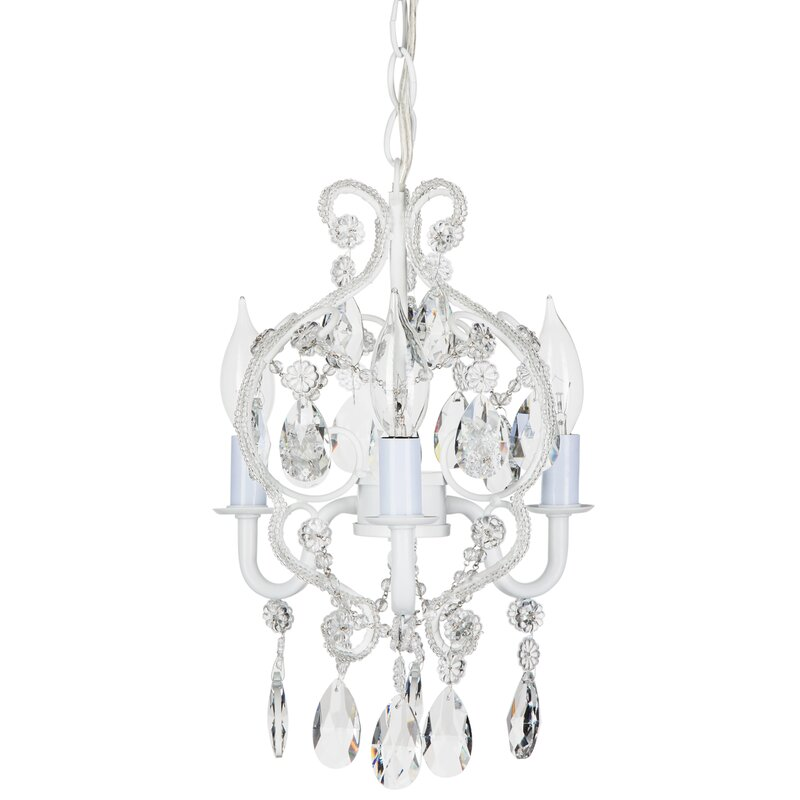 Mini or small chandeliers youll love alida 3 light crystal chandelier aloadofball Image collections