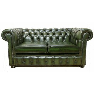 Cohasset Genuine Leather 2 Seater Chesterfield Sofa By Williston Forge