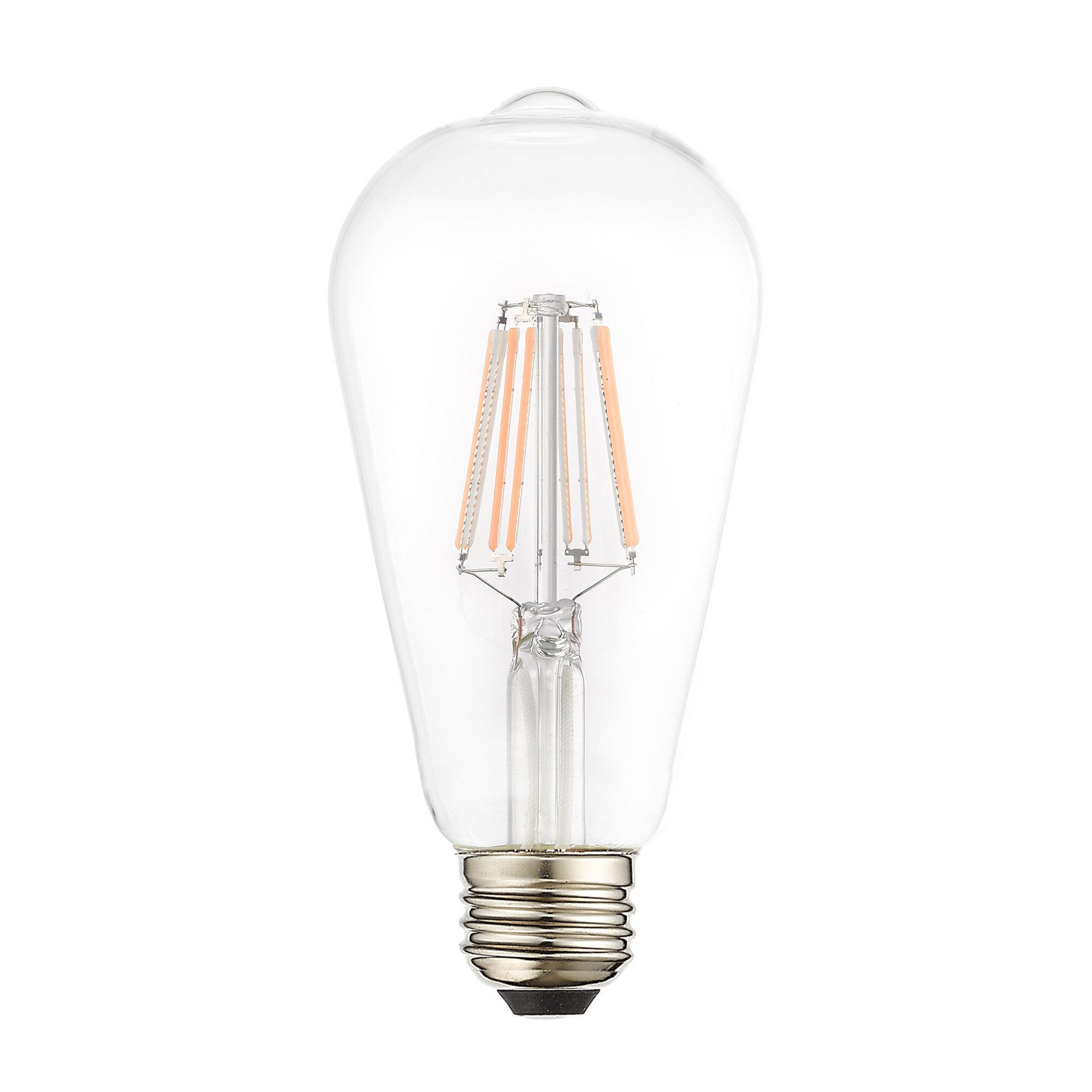 7 7 Watt 60 Watt Equivalent St19 Led Dimmable Light Bulb Warm White 2700k E26 Medium Standard Base Reviews Joss Main