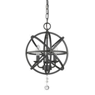 Mortimer 3-Light Globe Pendant by Wrought..