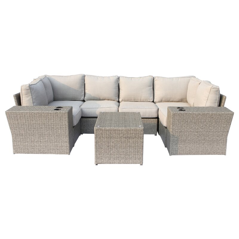Winsford 9 Piece Sectional Seating Group With Cushions Joss Main