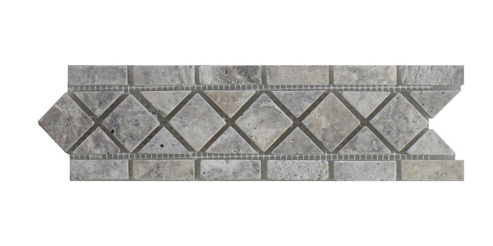 Seven seas silver travertine 325 x 12 marble border tile in gray silver travertine 325 x 12 marble border tile ppazfo