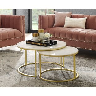 Kayson Round 2 Piece Coffee Table Set