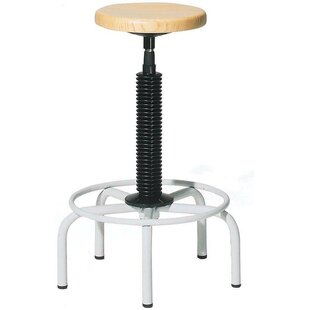 Twyman Stool With Wood Seat by Williston Forge New Design