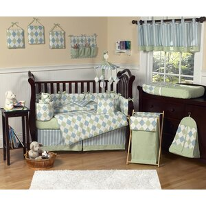 Argyle Blue 9 Piece Crib Bedding Set