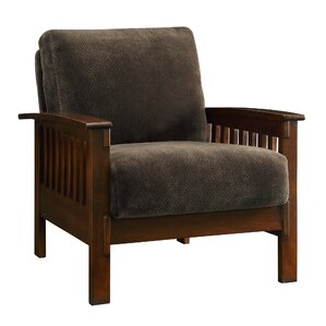 Wayne Mission Fabric Armchair by Three Posts