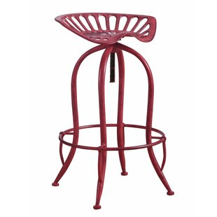 Mcclinton Adjustable Height Bar Stool by Williston Forge